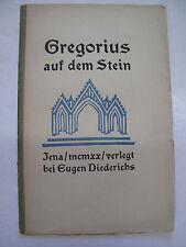 Pamphlet Ephemera Gregorius Auf Dem Stein German Legend Art Culture Stone 1920