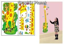 KIDS GROWTH CHART HEIGHT MEASURE BEDROOM WALL STICKERS DECOR GIRAFFE FREE POST