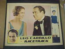 RACETRACK, orig 1933 LC [Leo Carillo, Lee Moran]
