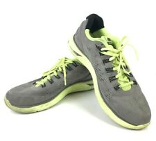 Nike LunarGlide 4 size 10.5 Gray with Neon Yellow Running Dynamic Support