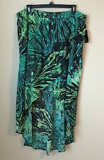 NWT a.n.a Cross-Front Maxi Skirt  Amazon Jungle Multi Plus Size 0X