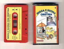 GIOCA E SUONA CON CRISTINA D'AVENA Musicassetta 6 OTTIMO Mc Audiocassetta 1988