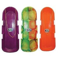 """(3)  EMSCO 48"""" 2 PERSON MONSTER SNOW TWIN POLY TOBOGGAN SLEDS 1140/123"""