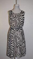 Banana Republic Zebra Print Chiffon Sleeveless Blouson Dress Size 8