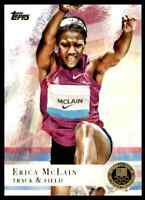 2012 TOPPS OLYMPICS GOLD ERICA MCLAIN TRACK & FIELD #95 PARALLEL