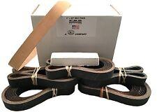"1""x30"" Sharpening Belt Pack - 120, 400, 600, 800, 1000 & Leather Belt w Compound"