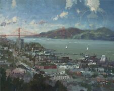 View from Coit Tower Thomas Kinkade PP 350 16x20 Authenticity and Appraisal Cert