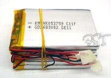 5 un. 3.7 v 1200 Mah Li-polímero de litio Li-ion Lipo 053759 Para Mp4 Gps Psp Cámara