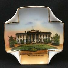 Antique German Souvenir Folded Corner Dish THE PRESIDENT'S MANSION View, Scenic