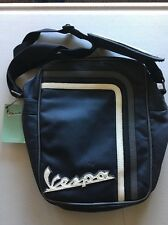 VESPA FAUX LEATHER MESSENGER LAPTOP COMMUTER BAG  $98 MSRP Blue NEW WITH TAGS!