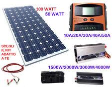 Kit Fotovoltaico 1 Kw Giornaliero Pwm Inverter 2000w Isola Solare Pannello 100w