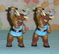 vintage Advanced Dungeons & Dragons AD&D bendy MINOTAUR x2 LOT