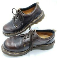 Dr. Martens UK 5 Mens 6 Womens 7 Brown Leather Lace-Up Ankle Oxford Boots 8323