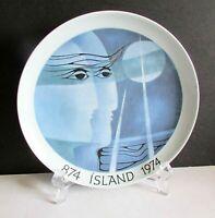 "Rúna Island Nordic BING & GRONDAHL B&G 1974 Danish Scandinavia Plate 7"" FREE SH"