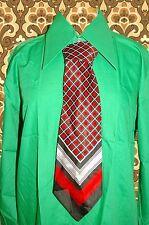 A254✪ original 70er Jahre Kult Retro Krawatte Hippie Muster schwarz / rot / weis
