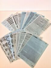Vintage Retro LETRASET Collection. 18 Sheets, No Reserve!