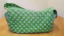Vera Bradley RETIRED Apple Green Small Quilted Purse Bag Blue Paisley 2004-06