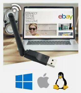 Clé USB Antenne Cle WiFi Rapide Linux PC Windows 10 Internet Sans Fil Adaptateur