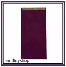 lot 10 pochettes cadeau papier enveloppe kraft bijoux 12x4x21 violet neuf