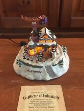 Hawthorne Village Rudolph's Xmas Town Santa's Very Merry Home Animated Sculpture