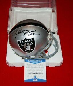RICH GANNON Oakland Raiders signed Mini Helmet Beckett Witnessed COA 2 NFL MVP