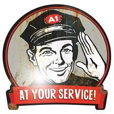 AT YOUR SERVICE 2XL 30cm Aufkleber Sticker Oldschool Retro Rockabilly OEM
