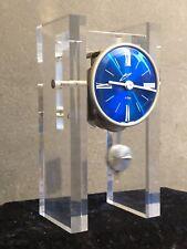 Vintage Design Schmid 8 Tage Werk 70er Jahre Plexiglas Tischuhr Mid Century Uhr