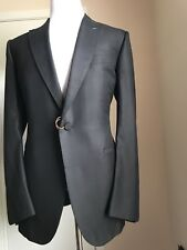 New $5295 Ermenegildo Zegna Couture Suit Tuxedo Black 44L US ( 54L Eur) Italy