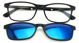 TR90 Black Reading Glasses With Sunglasses Clip On - Eyeglasses Readers Clear