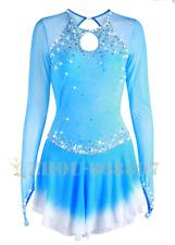 Ice Figure Skating Dress Gymnastics custome Dress Dance Competition Pale Blue