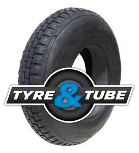 4.80/4.00-8 Wheelbarrow tyre & inner tube 4pr BLOCK TREAD 400 x 8 480 / 400 - 8