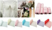 ** LACE NET ROLL Wedding Chair Tie Sash Floral Venue Table Balloon Tulle JL