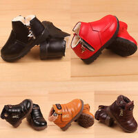 Baby Girl Boys Kids Winter Warm Thick Fur Snow Boots Leather Shoes Waterproof UK