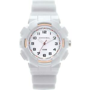 Cannibal Active Boys White Dial EL-Backlight white Plastic Strap Watch CJ272-09