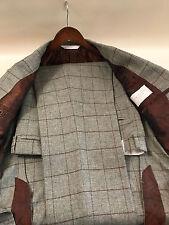 Samuelsohn SB Gable 100% Wool Plaid Fabric Suit Size 40 R