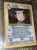 Clefable 1/64 Holo Foil LP - Error No Symbol - Jungle - Pokemon Card - WOTC