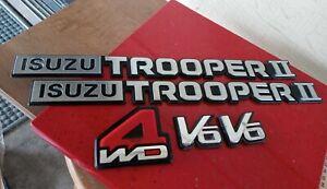 1981-1991 Isuzu chevrolet Trooper Emblem ll nameplate 7 PC SET