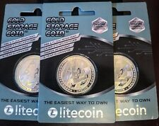 Cold Coin, Litecoin wallet, LTC, fire and flood Resistant, 1 Troy Oz Silver