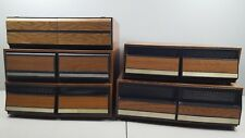 lot of 5 faux wood panel vhs tape holders 92 slot total vintage 70s 80s 90s