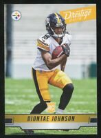 2019 Panini Prestige Diontae Johnson Rookie Steelers RC