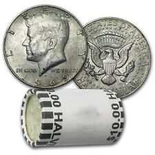 40% Silver Kennedy Half Dollars - $10 Face Value Roll-Average Circulated