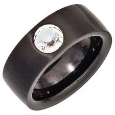 Modeschmuck-Ringe aus Edelstahl mit Strass 56 (17,8 mm Ø)