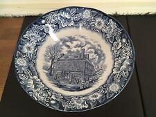 Liberty Blue Serving Bowl  - Historic Colonial Scenes - Fraunces Tavern