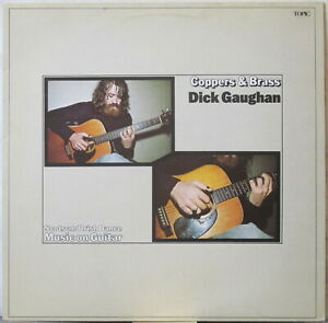 DICK GAUGHAN Coppers & Brass LP Scots and Irish Dance Music on Guitar – on Topic