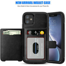 For Apple iPhone 11 Men's Flip Cellphone Wallet Case Leather Back Stand Cover