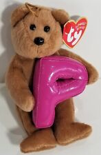 "TY ALPHABET Beanies Baby ""P"" Letter Name Ornament - MWMTs! PERFECT GIFT! NEW!"