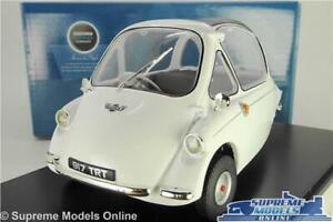 HEINKEL TROJAN MODEL BUBBLE CAR WHITE 1:18 SCALE OXFORD 18HE004 3 WHEEL MICRO K8