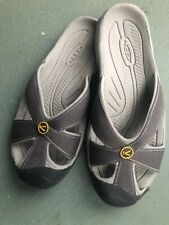 2 Keen Women Gray  and Multi-Color White Flip flop Size 6