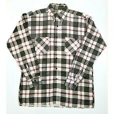 Vintage Saugatuck Dry Goods Mens Flannel Shirt Black Red White Long Sleeve Sz M
