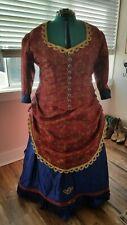 Victorian bustle dress reenactment